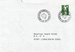 Env Affr Y&T 2718 Obl LINGOLSHEIM TANNERIES GA Du 27.4.1992 Adressée à Lingolsheim - Marcofilia (sobres)