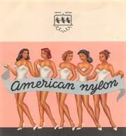 """08483 """"AMERICAN NYLON - BIANCHERIA""""  II QUARTO XX SEC. ETICHETTA ORIG. - Altre Collezioni"""