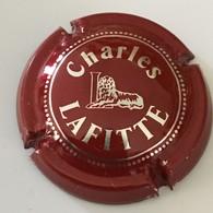 116 - Capsule De Champagne - 3 - Charles Lafitte Initiale L, Liseret De Points (rouge) - Lafitte, Charles