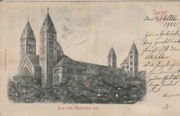 ALLEMAGNE - Rhénanie-Palatinat - SPEYER. Carte En Relief. Précurseur. Dom Vom Rheinhafen Aus.  E. Theile, 1902. - Speyer