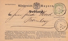 Ganzsache Aus Redwitz Nach Bamberg - Beieren