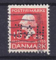 Denmark Perfin Perforé Lochung (H26) 'H&E' Hvalsøe & Erlandsen A/S København Hans Christian Andersen Stamp (2 Scans) - Abarten Und Kuriositäten