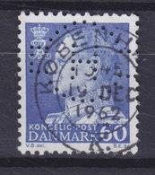 Denmark Perfin Perforé Lochung (H09) 'H In Banderole' A/S C.A. Herstad København  (2 Scans) - Abarten Und Kuriositäten