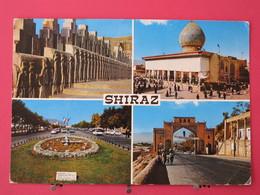 Iran - Shiraz - 4 Vues - Joli Timbre - 1973 - Scans Recto-verso - Iran