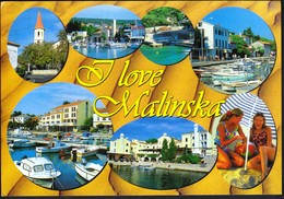 Croatia 2002 / I Love Malinska / Krk Island / Church, Port, Boats, Hotel, Tourism - Kroatië