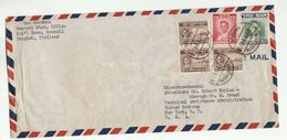1951 THAILAND COVER To UN USA United Nations Franked SIAM & THAILAND Stamps Airmail National Economic Council Statistics - Thailand