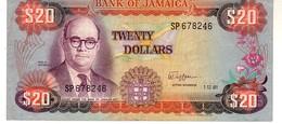Jamaica P.68b 20  Dollars 1981  Unc - Giamaica