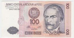 Peru P 133 - 100 Intis 26.6.1987 - UNC - Perù