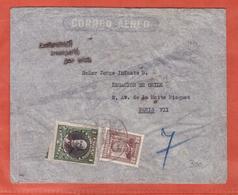 CHILI LETTRE AEROPOSTALE AVEC GRIFFE ENTIEREMENT TRANSPORTE PAR AVION DE SANTIAGO DE 1934 POUR PARIS FRANCE - Chili