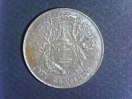 1860 Cambodge - 10 Centimes Frappe Locale - Camboya