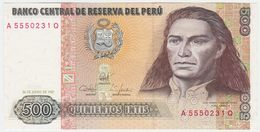 Peru P 134 B - 500 Intis 26.6.1987 - UNC - Perù