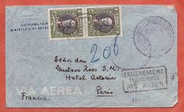 CHILI LETTRE AEROPOSTALE AVEC GRIFFE ENTIEREMENT TRANSPORTE DE SANTIAGO DE 1936 POUR PARIS FRANCE - Chili