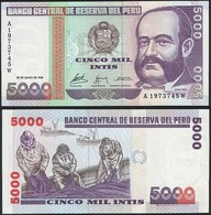 Peru P 137 - 5000 5.000 Intis 28.6.1988 - UNC - Perù