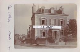 DINARD 1913 - Carte Photo Originale D'une Villa '' Villa Albion '' ( Ille Et Vilaine ) - Dinard