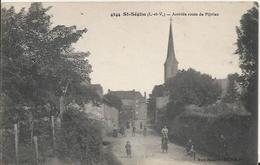 Carte Postale Ancienne De Saint Séglin Arrivée De La Route De Pipriac - France