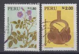 Peru Mi# 1541-42 Used Potato 1995 - Peru