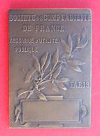 Médaille En Bronze - Société De Comptabilité De France - Paris - Graveur Raoul Lamourdedieu - Professionals / Firms