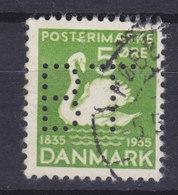 Denmark Perfin Perforé Lochung (B45) 'BT' Berlingske Tidende (Newspaper) København Ugly Duckling H. C. Andersen (2 Scans - Abarten Und Kuriositäten