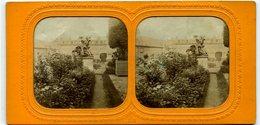 Paris -Palais De Saint Cloud Et Versailles -  Rares Photo Stereo  Tissue Circa 1870 - Fotos Estereoscópicas