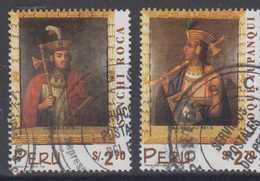 Peru Mi# 1639-40 Used INKA King 1998 - Peru