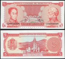 Venezuela P 70 B - 5 Bolivares 21.09.1989 - UNC - Venezuela