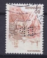 Denmark Perfin Perforé Lochung (D61) 'DP' ? København (Cz. Slania) Stamp EXTREMELY SCARCE Few Specimens Known !! - Abarten Und Kuriositäten