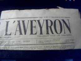 Journal Ancien Le Journal  De L Aveyron Dimanche 23 Juin 1912 - Journaux - Quotidiens