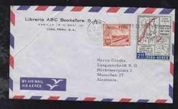 Peru 1962 Airmail Cover To MUNICH Germany Map Stamp - Peru