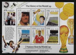 NEVIS  Feuillet N° 1534/39 * *    ( Cote 15e )  Cup 2002     Football  Soccer  Fussball - Coupe Du Monde