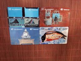 Set 4 Phonecards Norway (Mint,Neuve) With Rare Carte 3500 Ex  2 Scans RRR - Norway