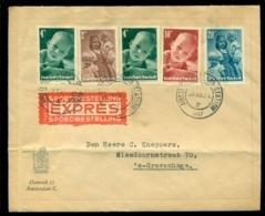 Nederland 1947 Expres Brief Met Kinderzegels NVPH 495,496 (2), 498 En 499 Zegel 497 Ontbreekt - Covers & Documents