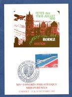 Carte / XIV ème Congrès Philatélique  / Rodez  /  15-16 Octobre 1983 - Maximum Cards