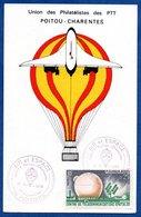 Carte / Air Et Espace UPPTT Poitou Charente / Poitiers   /  14-15 Janvier 1984 - Maximum Cards