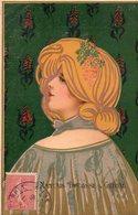 Femme Art Deco  -  Publicite Biscuits Nantais - Illustrateurs & Photographes