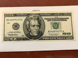 USA United States $20.00 Banknote Uncirculated Year 1999  #5 - Devise Nationale