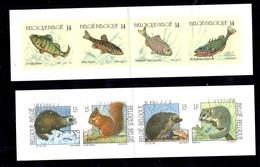 Belgique YT N° 2383/2386 Et 2477/2480 Bandes De Carnets Non Dentelés. Numéros Au Verso. TB. A Saisir! - Markenheftchen 1953-....