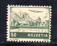 136/1500 - SVIZZERA 1941 , Posta Aerea   Unificato N. 29 * Linguella - Nuovi