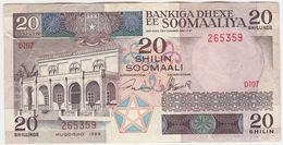 Somalia P 33 D - 10 Shilin Shillings 1989 - VF - Somalie