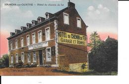 """Hamoir-sur-Hourthe - Hôtel Du Chemon De Fer """"A. Micchaux"""" - Colorisé - Circulé: 1925 - 2 Scans. - Hamoir"""