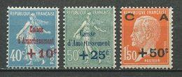 FRANCE 1927  N° 246/248 ** Neufs MNH  Superbes  C 70 €  Caisse D'amortissement - Unused Stamps