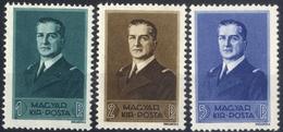 HUNGARY 1938 KORMÁNYZÓI ARCKÉP SOR I. HORTHY  MNH, OG - Unused Stamps