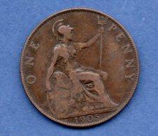 Grande Bretagne  --  1 Penny 1905  -  Km # 794.2  -  état  TB+ - 1902-1971 : Post-Victorian Coins