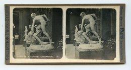 """COLLECTION KINÉ-STÉRÉO """"""""""""Paris """"""""""""  Musée Du LUXEMBOURG . Sculpture .Persée Et La Gorgone MYTHOLOGIE - Photos Stéréoscopiques"""