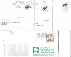 1600n: Österreich- 4 Belege Umweltschutz- Tiere - Protección Del Medio Ambiente Y Del Clima