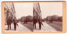Photo Stéréoscopique - Danemark - Copenhague - Kobenhavn - Christiania - Le Storthuig - Carl Johans Gade - Entre 1878 Et - Photos Stéréoscopiques
