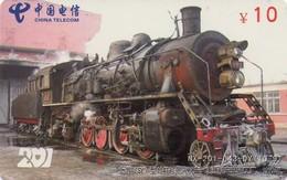 TARJETA TELEFONICA DE CHINA. TRENES. (006) - Trains