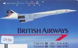 Télécarte  JAPON * FRONT BAR 110-16609 * BRITISH AIRWAYS (2330)  Airplane * Flugzeug AVION * AIRLINE * Phonecard JAPAN - Flugzeuge