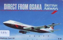 Télécarte  JAPON * 110-65152 * BRITISH AIRWAYS (2331)  Airplane * Flugzeug AVION * AIRLINE * Phonecard JAPAN - Airplanes