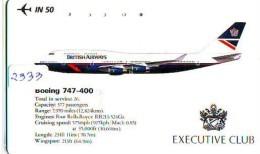 Télécarte  JAPON * 110-011 * BRITISH AIRWAYS (2333)  Airplane * Flugzeug AVION * AIRLINE * Phonecard JAPAN - Airplanes