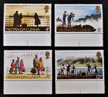 RETOUR DES INSULAIRES 1973 - NEUFS ** - YT 185/88 - MI 185/88 - BAS DE FEUILLES - Tristan Da Cunha